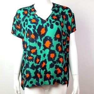 Cani Leopard Print Rita Top XXS #5023